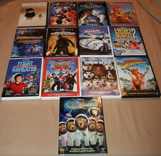 Big Lot 15 Kids Children DVDs Movies Disney More Herbie Snow Dogs Sky