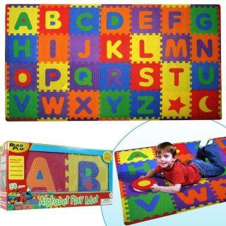 Build Play 56 Piece Alphabet Floor Mat Kids Childrens Mats Foam