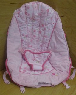 Kids II Bright Starts bouncer cradling Seat cover pad cushion Pink