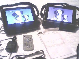 Dual Screen Portable DVD Player Great for Kids in The Car Works Great