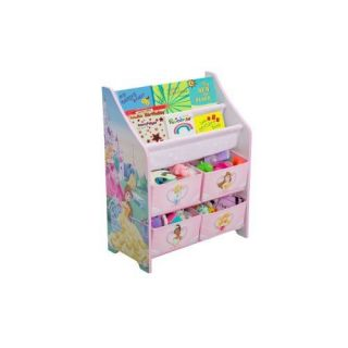 Disney Princess Kids Book Toy Bin Organizer Storage Box