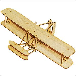 New Wright Brother Flyer Airplane Wood Kids Toy Kits Set YM711