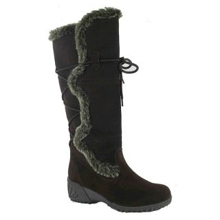 Khombu Solar 2 Waterproof Suede Winter Boots Womens 6 Black Shoes New