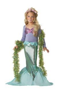 Little Mermaid Sequins Kids Halloween Costume