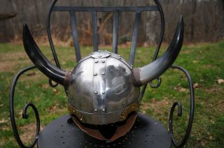 Medieval Viking Warrior Battle Ready Forged Helmet Armor Reenactment
