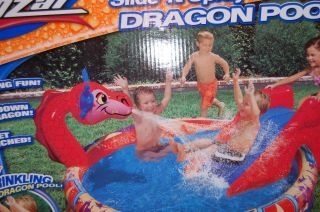 Banzai Slide Spray Dragon Play Pool Kids Fun Swim