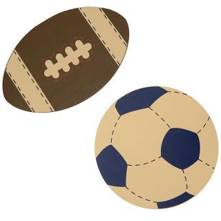 Nojo My Little Lil MVP Wall Art 2 Pc Set Boys Sports Room Art Football