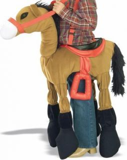 Brown Horse Cowgirl Kids Halloween Costume Accessory