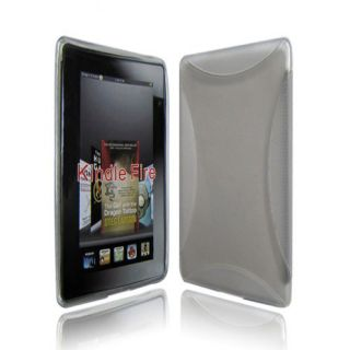 TPU Silicon Skin Case Cover for  Kindle Fire 7 Clear