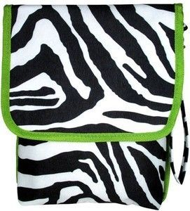 LIME ZEBRA iPad Kindle Carrying Case Tote Bag eReader Tablet Thirty