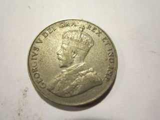 Canada 5 Cents Coin King George V Nickel Currency Edgar Bertram