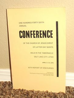 General Conference Report LDS Mormon Church April 1976