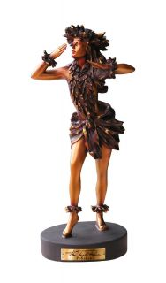 Dawns Light) Hawaiian Hula Girl Statue Kim Taylor Reece Bronze color