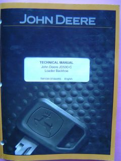 John Deere JD500C Technical Manual Loader Backhoe