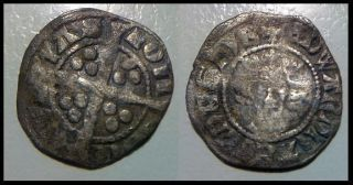 Medieval England Hammered Silver Coin King Edward I