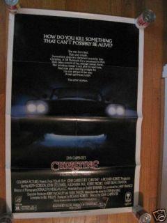 Christine Movie Poster Stephen King John Carpenter