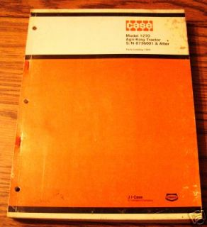 Case 1270 Agri King Tractor Parts Catalog Book Manual