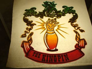 King Pin Bowling Gangsta 1970s Vintage T Shirt Transfer Iron On