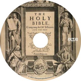 King James Holy Bible 1611 KJV Christian Book on DVD