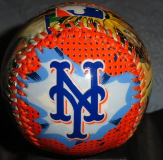 New York Mets Comic Book Style Souvenir Baseball