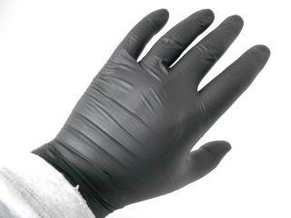 Nitromax Nitrile Exam Gloves, Black, Size XL, 10 boxes, 100 gloves/box
