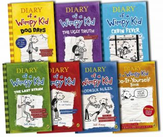 Kid Collection 7 Books Set Jeff Kinney Ugly Truth Movie New