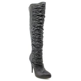 Carlos Santana Kino Womens Size 5 5 Black Synthetic Fashion Knee High