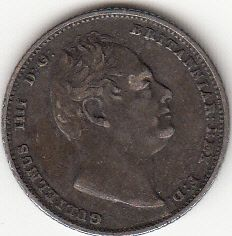 1834 King William IV Sterling Silver Sixpence 92 5 Coin from Great