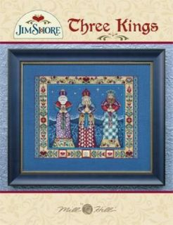 Three Kings Jim Shore Chart Counted Cross Stitch Pattern New Mill Hill