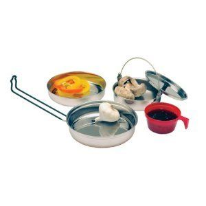 Stainless Steel Mess Kit Camping Cookware Kitchen New