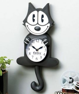 CAT Licensed Wall Clock Character Novelty Collector Gift Kitchen Decor