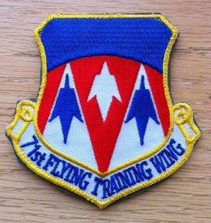 Air Force 71st Flying Training Wing Flight Suit Patch Vance AFB