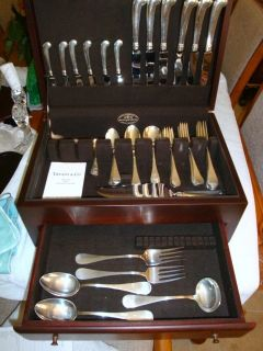 Sterling Silver Tiffany Atq King William Flatware Set