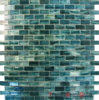 Recycle Glass Mosaic Tile Backsplash Kitchen Wall Sink Bath