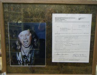 SAM KINISON SNL SATURDAY NIGHT LIVE SIGNED AUTOGRAPHED CONTRACT HOWARD