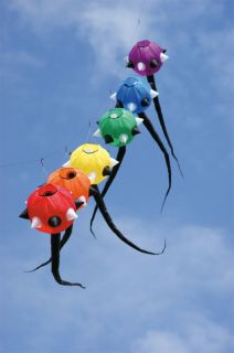 Spiked Tail Set of 6 Laundry Line Inflatable Windsock Kites