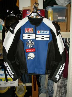 Speed and Strength Twist of Fate Leather Motorcycle Racing Jacket