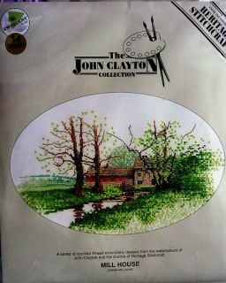 John Clayton Counted Cross Stitch Kit Mill House