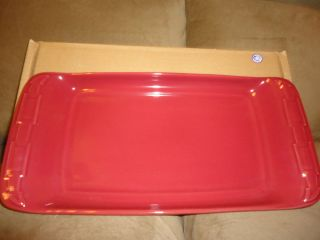 Longaberger Woven Traditions Pottery Paprika Appetizer Tray new in box
