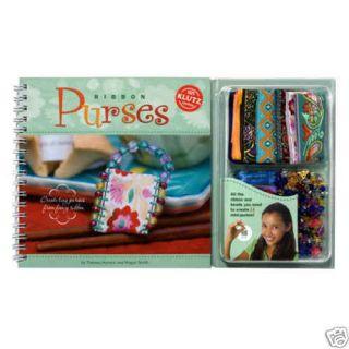 Ribbon Purses Bead Fabric Mini Purse Making Klutz Kit