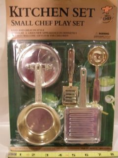 Kitchen Cookware Utensils Pots & Pans Toy Set Small Chef Child Pretend