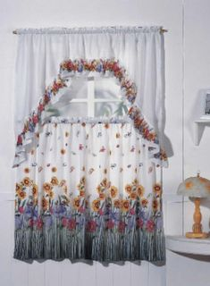 Complete Tier Swag Set Kitchen Curtain Set Kitchen Curtains