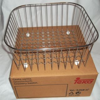 Stainless Steel Crockery Kitchen Sink Basket Dish Drainer Drying Rack