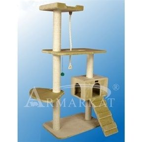 Cat Condo Tree House Scratchpost Bed Pet Furniture New Armarkat 58