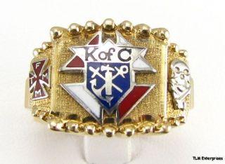 Knights of Columbus 10K Gold Skull 11 7g Large Ring