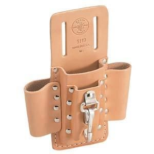 Klein Tools 5119 1 Pocket 3 Loops 1 Knife Snap Tool Pouch Leather
