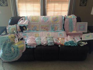 Koala Baby Sunshine Crib Bedding Nursery Set+Mobile, Wall Hangings