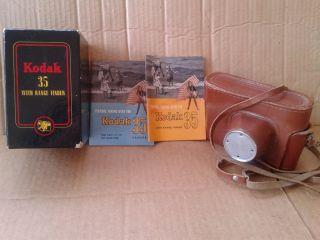 Vintage Kodak 35 mm Film Camera Box Case Manuals