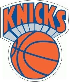 Vintage NBA Knicks Basketball Logo Sticker Decal