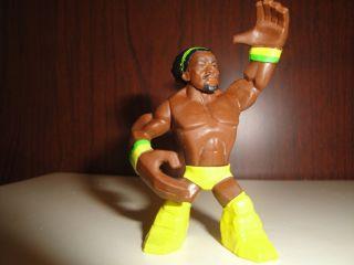 Mattel Rumblers Kofi Kingston wwe wrestling figure basic yellow gear